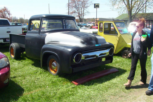 1956 Ford F100 Big Window Pickup Hotrod Ratrod Hot Rod Rat
