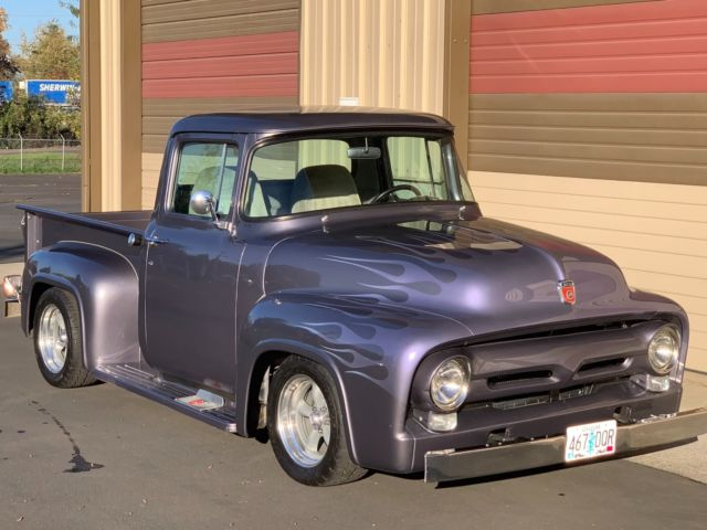 1956 Grey Ford F-100 TRUCK TWO DOOR with Grey interior