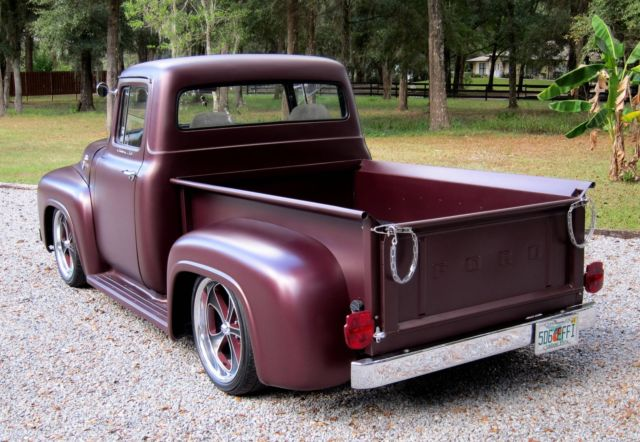 1956 ford f100 pro touring pick up stanced not bagged swb for 1956 f100 big window