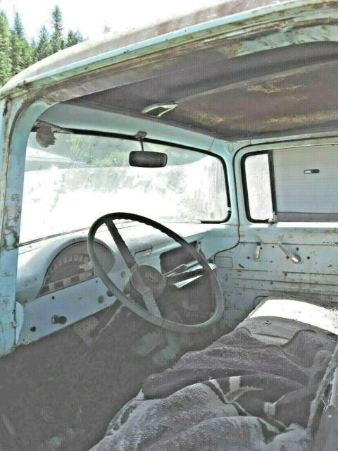1956 Blue Ford F-100 Standard Cab Pickup with Blue interior