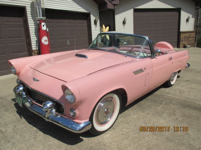 1956 Ford T Bird Red Sunset C Pink 1955 1957