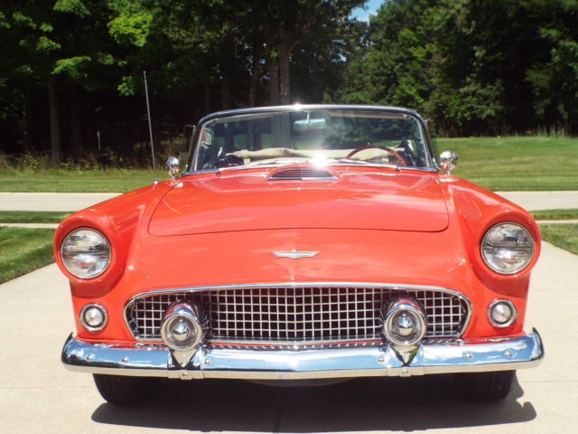1956 Ford Thunderbird 2 Door Convertible with Soft Top (no hardtop)