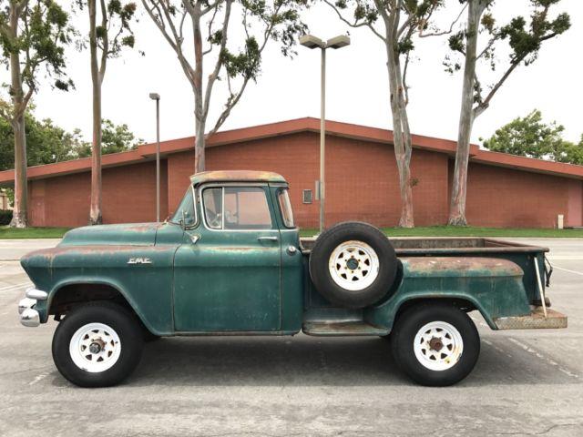 1956 GMC Truck Original Napco 4x4 Big Window CA Backyard Find Sold