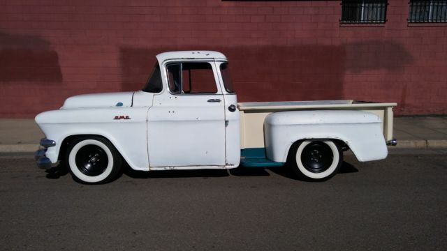 1956 gmc truck shortbed big window delux not chevy 3100 for 1955 gmc 5 window pickup for sale