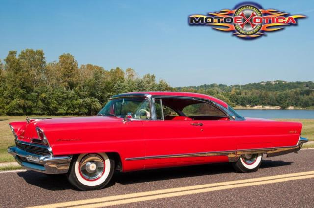 1956 Red Lincoln Premiere Coupe Coupe with Black interior