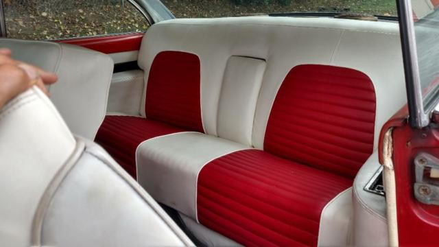 1956 Red Lincoln Other Coupe with Red/ White interior