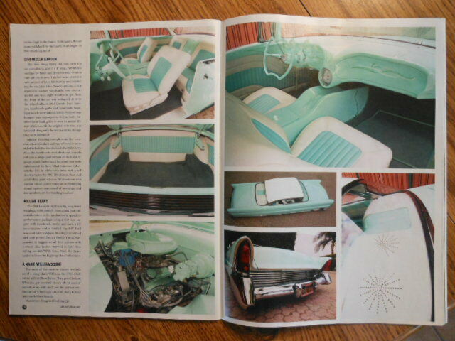 1956 ppg mint and whiite pearl Lincoln Capri with miiint green and white interior