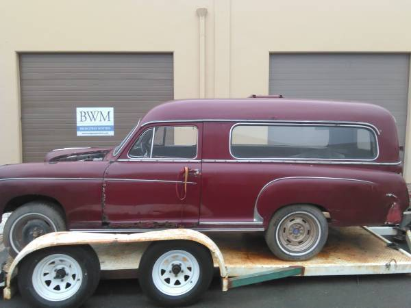 1956 mercedes benz190 series hearse ambulance for sale for Used mercedes benz hearse for sale