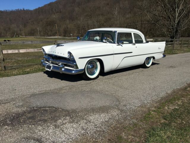 1956 White Plymouth Plaza -AMERICAN CLASSIC 2 Door with White interior