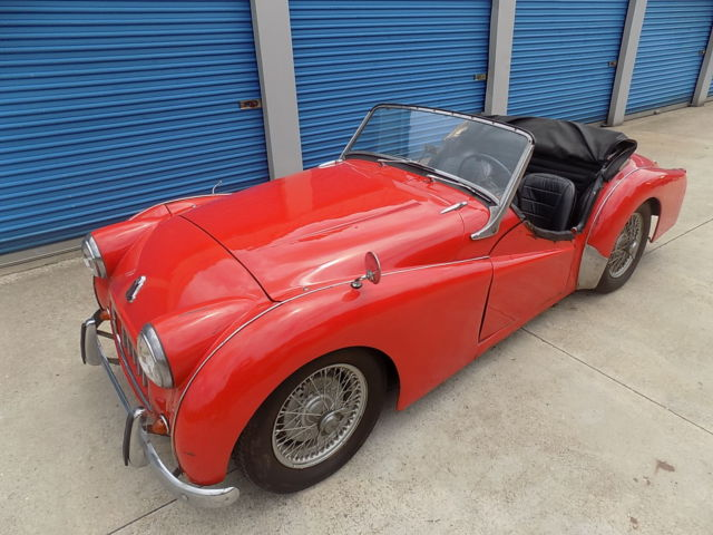 1956 Triumph Tr3 Small Mouth Roadster With Rare Overdrive