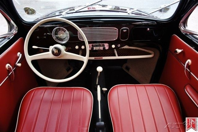 Spokane Used Cars >> 1956 Volkswagen 'Oval Window' Beetle, Black with Red ...