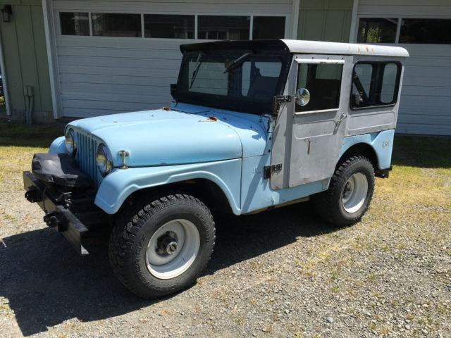 1956 willys jeep cj 5 4x4 ford v8 metal hard top for sale. Black Bedroom Furniture Sets. Home Design Ideas