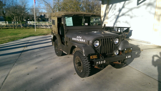 1956 Green Willys Jeep M38A1 with Green interior