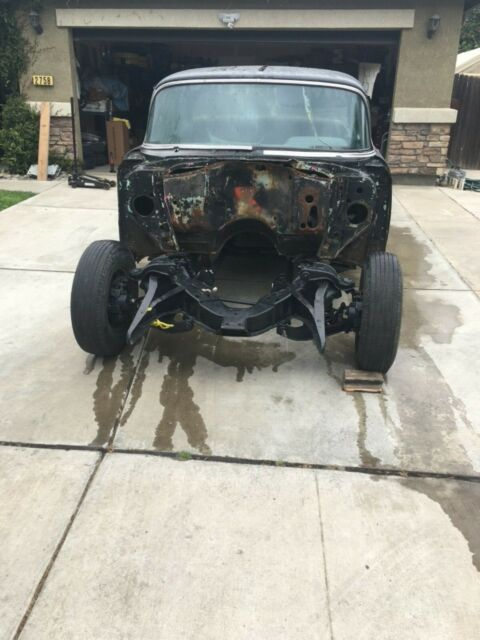 1957 Black Chevrolet Bel Air/150/210 Hardtop Coupe with Black interior
