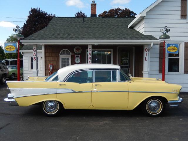 1957 57 chevrolet chevy bel air sport sedan 4 door hardtop for 1957 belair 4 door hardtop