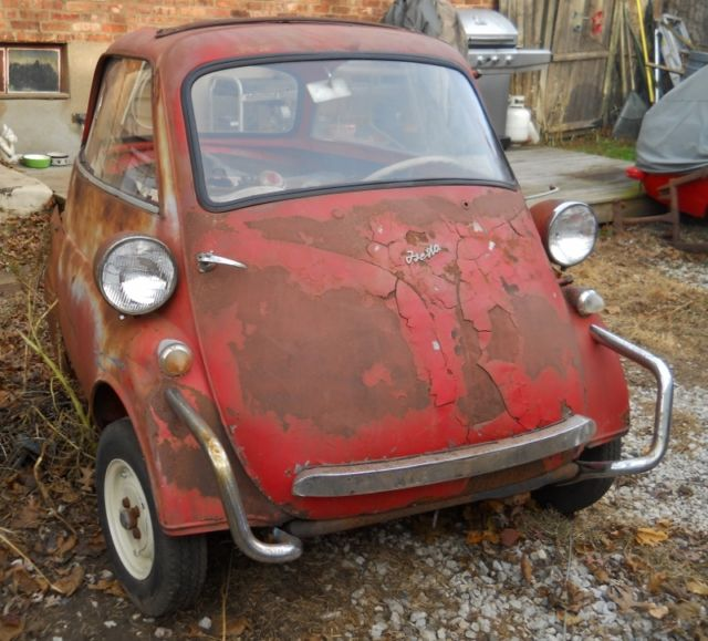 1957 BMW Isetta 300 Restoration Project Barn Find Microcar Bubble Car