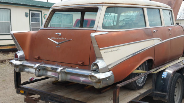 1957 chevrolet 210 4 door wagon nice colorodo dry car for 1957 chevy 4 door wagon for sale