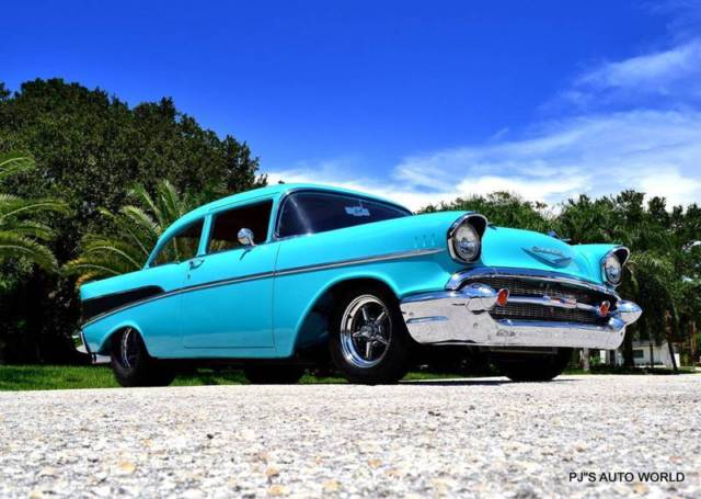 1957 Chevrolet Bel Air/150/210 V8 Twin Turbo Super Chevy magazine car