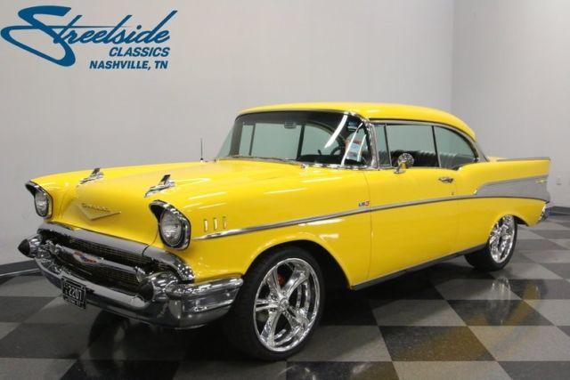 1957 Chevrolet Bel Air Restomod 10653 Miles Millenium Yellow Hardtop