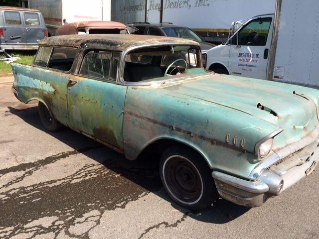 1957 CHEVROLET NOMAD 2DR V8 4SPD PROJECT CAR for sale