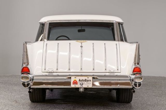 1957 White Chevrolet Nomad Station Wagon with Black interior