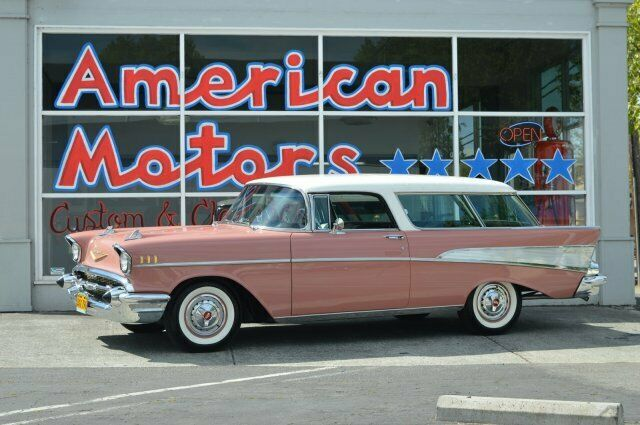 1957 Chevrolet Nomad  India Ivory/Canyon Coral   Automatic 0 Miles