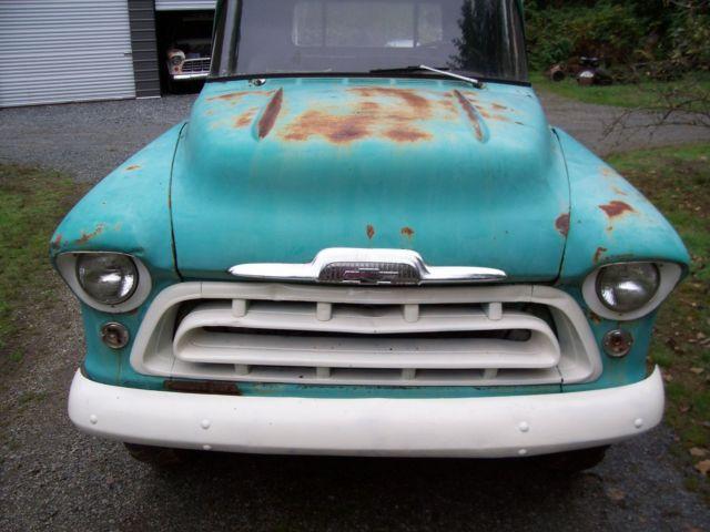 1957 Chevrolet Pickup Apache Rare 9ft Bed Like Napco Gmc For Sale