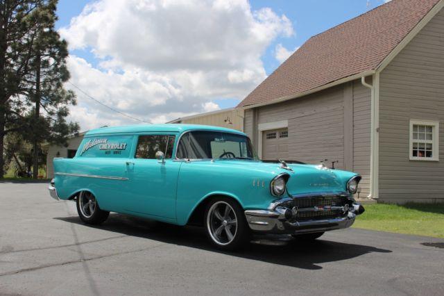 1957 Chevrolet Sedan Delivery Wagon frame off restored GM