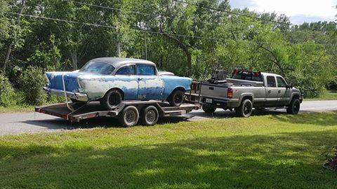 Find used 1956 Chevrolet Bel Air 4 door sedan, new 468 Big Block ...