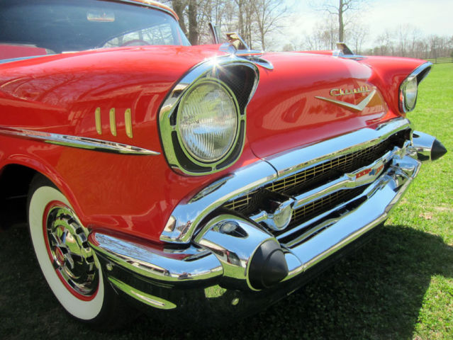 1957 Chevy Bel Air Convertible 700Miles on FULL RESTORE ...