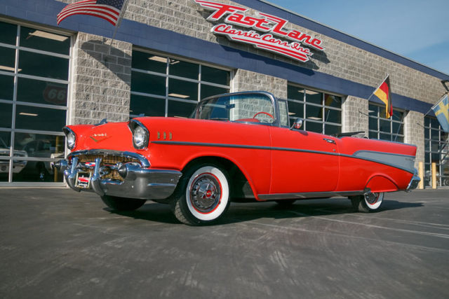 1957 chevy bel air convertible with every factory option available