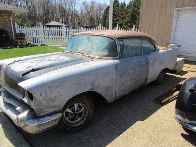 1957 chevy belair 2 door hardtop factory power steering brakes rat