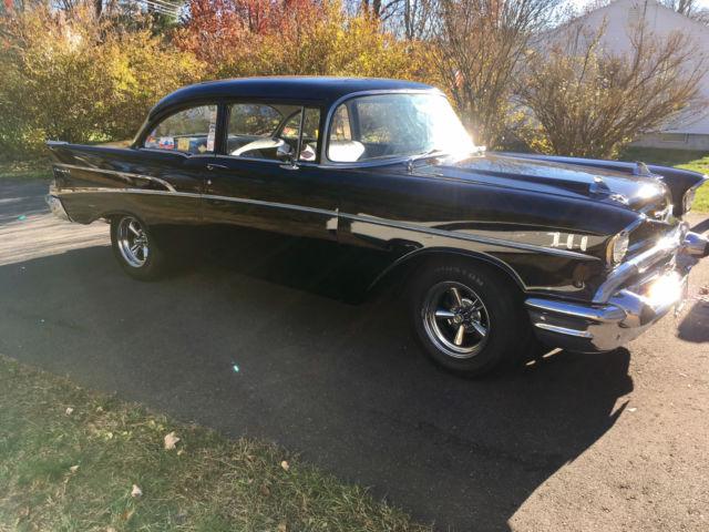 1957 chevy belair black 2 door post with 283 power pack for 1957 chevrolet 2 door post