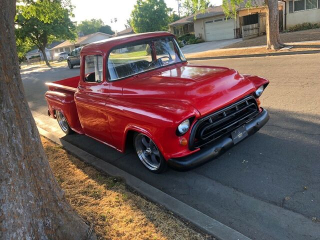 1957 Red Chevrolet Other Pickups Cab & Chassis with Black interior