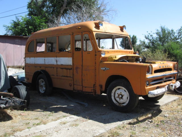 1957 DODGE D300 SHORTIE SCHOOL BUS,RATROD,HOTROD,BUS,CAMPER