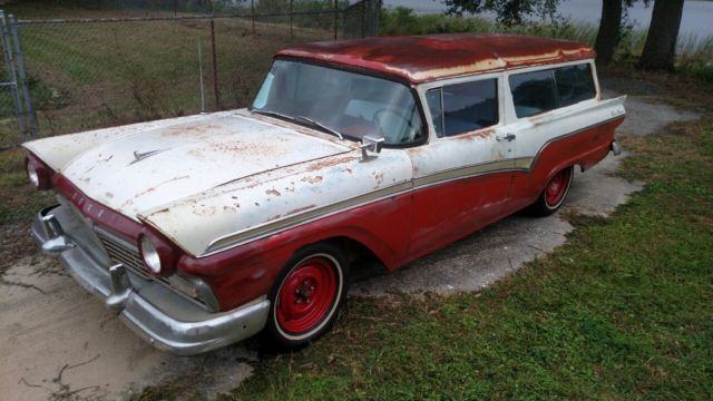 1957 FORD 2DOOR DEL RIO RANCH WAGON ORIGINAL ARIZONA RARE 2 DOOR