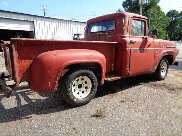 1957 FORD F100 V8 3 SPEED 6 FOOT STEPSIDE CHROME GRILL! WITH