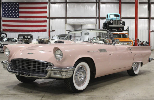 1957 Ford Thunderbird 8064 Miles Pink Convertible 312 V8 Automatic