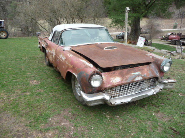1957 Ford Thunderbird With Port Hole Hardtop Project Car For Sale