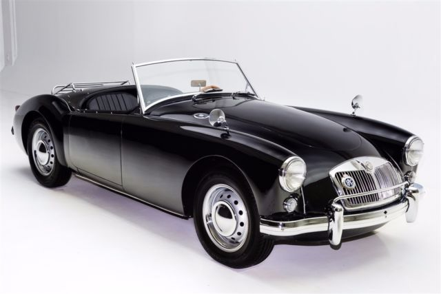 1957 MG MGA Roadster Black Twin Carbs 2 tops