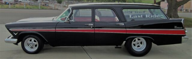 1957 Black Plymouth Plymouth Suburban Suburban with Red interior
