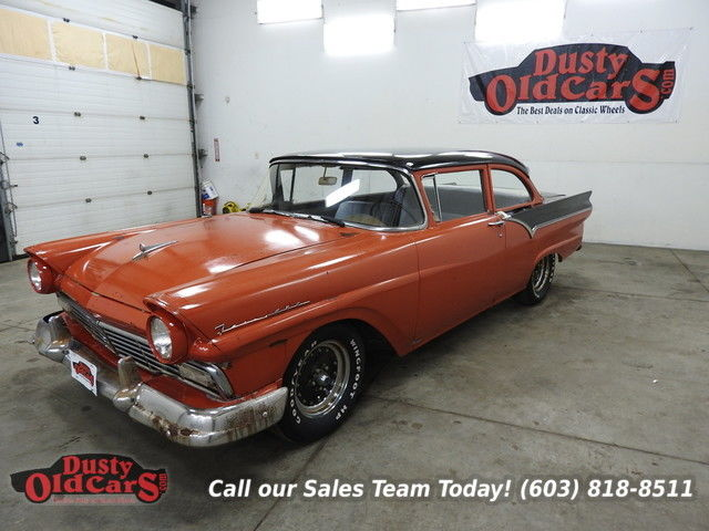 1957 Ford Custom Runs Drives Body Inter Fari 223I6 3 Spd