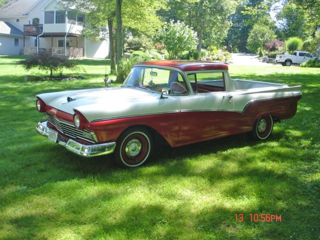 1957 red white ford ranchero for sale photos technical. Black Bedroom Furniture Sets. Home Design Ideas