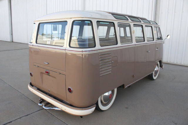 1957 Brown Volkswagen Microbus De Luxe Samba with Tan interior