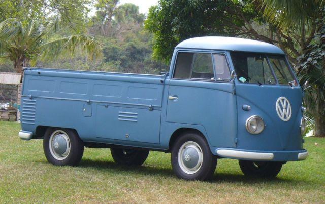 1957 Vw Single Cab Pickup Type 2 Truck Video Kombi Transporter Bus