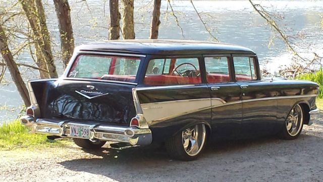 1957 wagon 210 belair 4 door pro touring custom chevrolet for sale photos technical. Black Bedroom Furniture Sets. Home Design Ideas