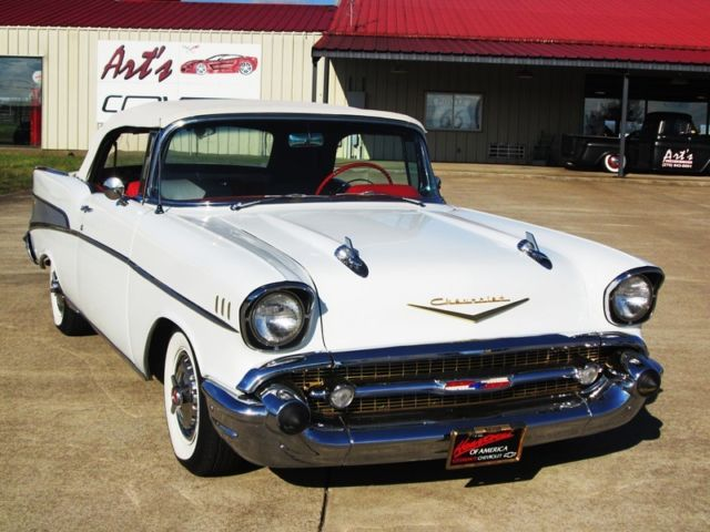1957 White Chevrolet Bel Air Convertible For Sale Photos Technical