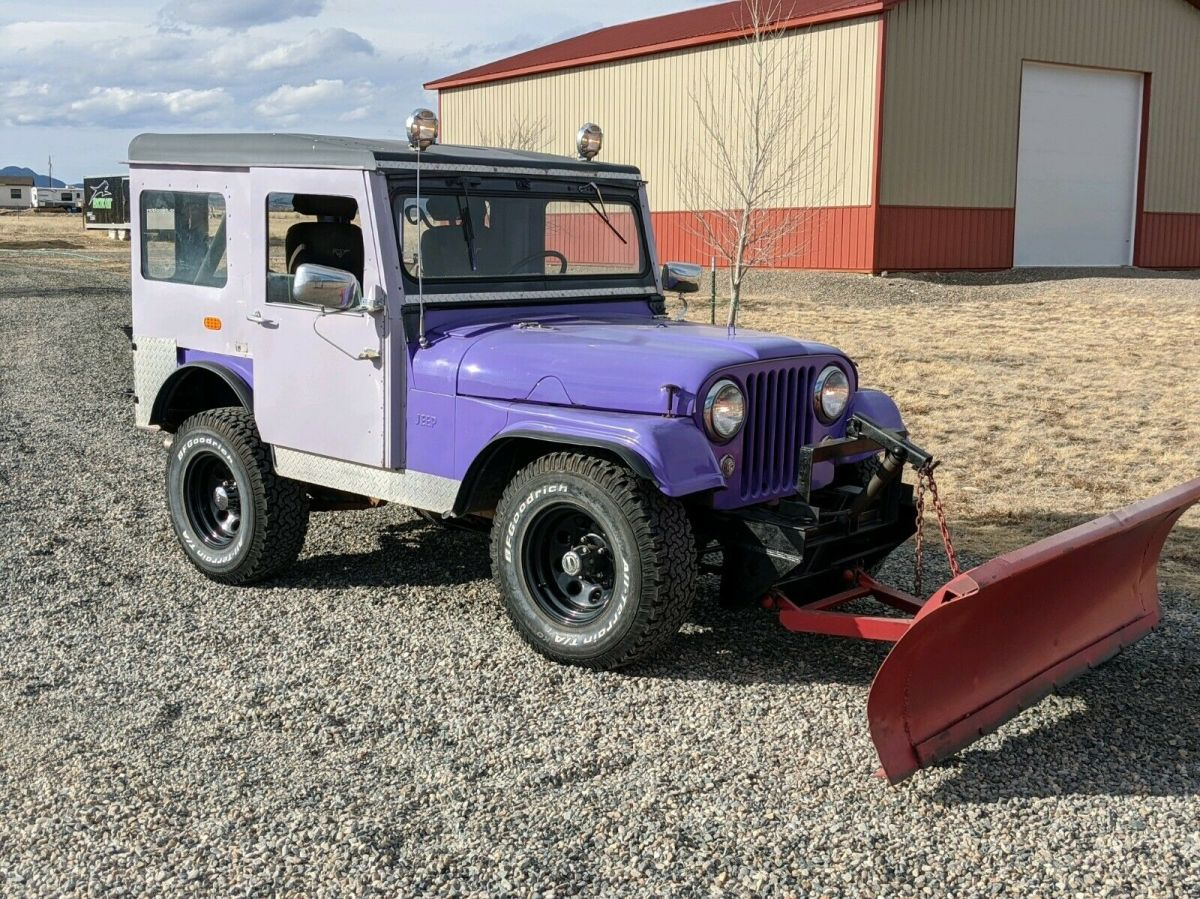 1957 Willys with hardtop and snow plow