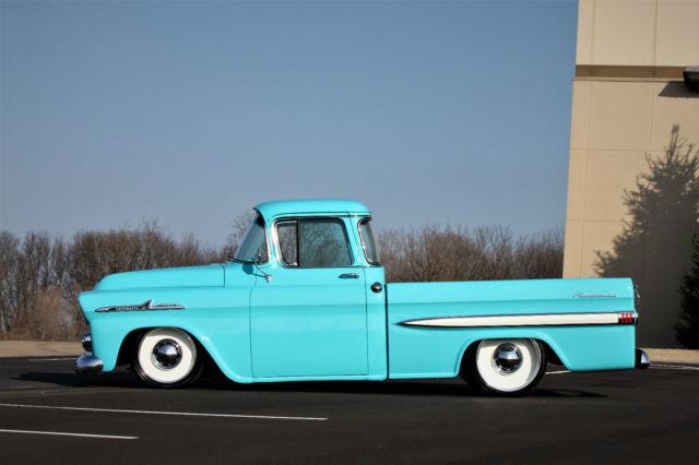 1958 Apache Fleetside Deluxe Big Window Nut Bolt Resto Mod Hot Rod