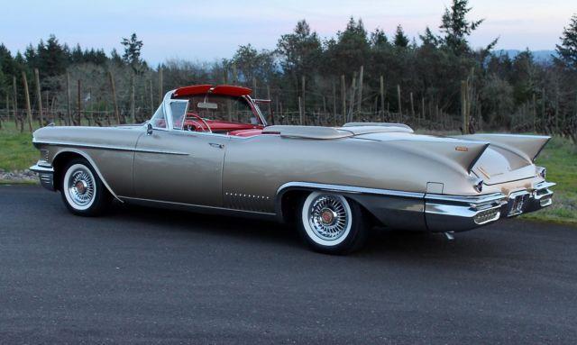 1958 Cadillac Eldorado Biarritz Convertible One Of 815 Built Frame Up Red